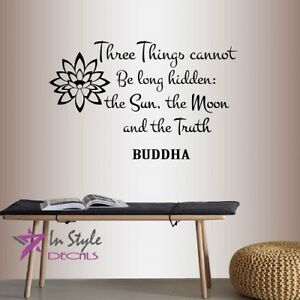 Image Is Loading Vinyl Decal 3 Things Sun Moon Truth Buddha