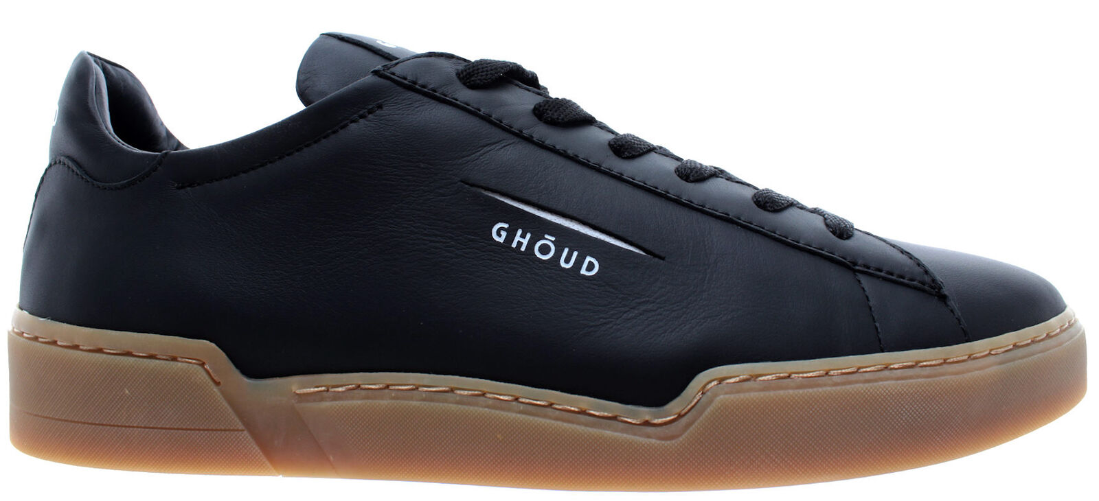 GHOUD Venice shoes men Sneakers Man Low Leather Black Logo White Made In