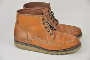 a4b5303899f Men's WOLVERINE 1000 Mile Brown Lace Boot Wedge Heel Size 9 W04874 ...