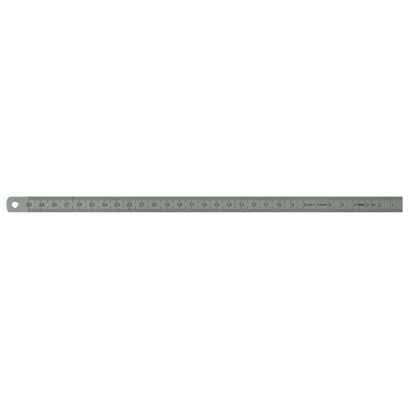 Biegsamer Stahl Maßstab rechts nach links 50 bis 400 cm mm Teilung 18 x 0,5 mm