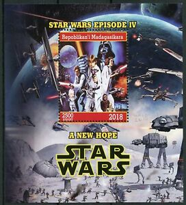 Madagascar-2018-CTO-Star-Wars-New-Hope-Darth-Vader-Luke-Skywalker-1v-M-S-Stamps