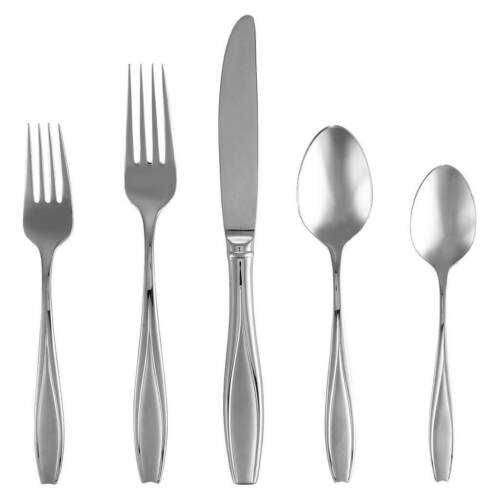 Service for 8 Gorham Tulip Frosted 40Pc Flatware Set