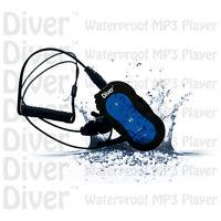 Diver (tm) Waterproof Mp3 Player. Swim. With Headphones. Usb Ipx8 4gb. Blue.