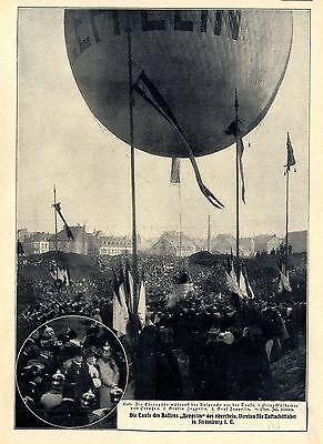 """Transport Sammeln & Seltenes Reliable Taufe Des Ballons """"zeppelin"""" D.oberrhein.vereins F.luftschiffahrt Straßburg 1907"""
