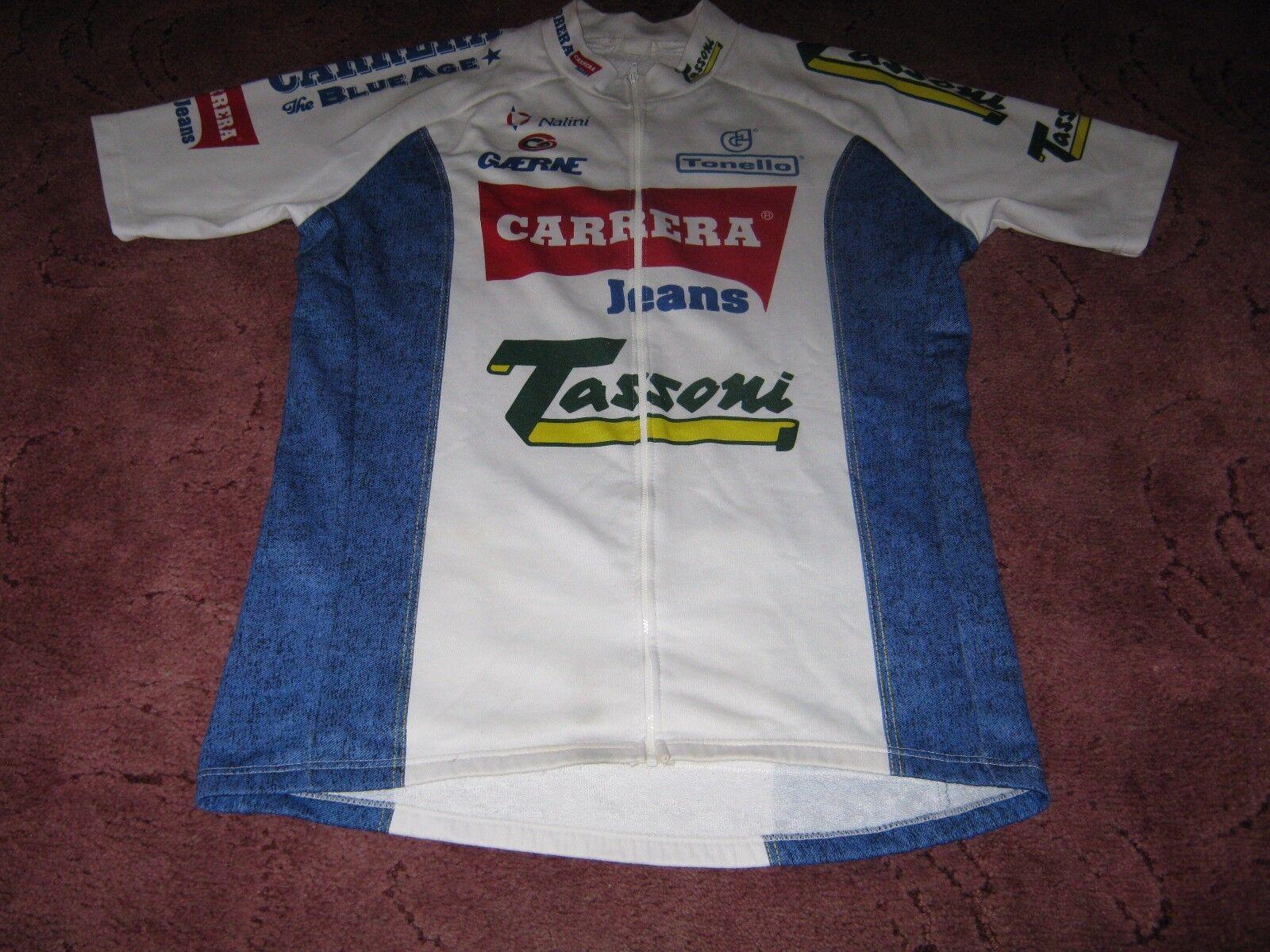 CARRERA TASSONI 1994 NALINI ITALIAN VINTAGE CYCLING JERSEY [Sz  7] WITH LONG ZIP