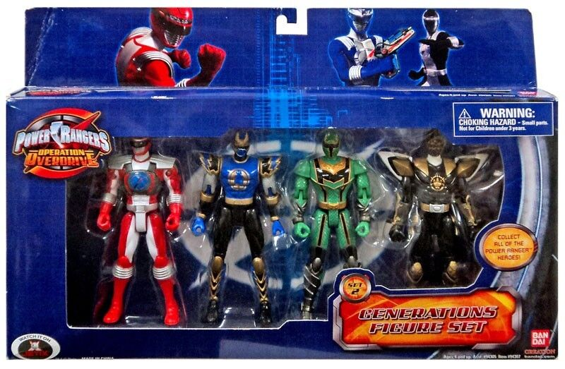 Power Rangers Operation Overdrive Generations Wirkung Figure 4-Verpackung