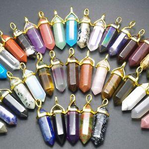 Curacion-de-piedras-preciosas-naturales-talladas-con-punta-hexagonal-Reiki-Chakras-Colgante-De-Tapa