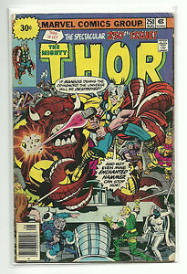 MARVEL (1962) MIGHTY THOR #250 + 30 CENT $.30 VARIANT LOT - VG