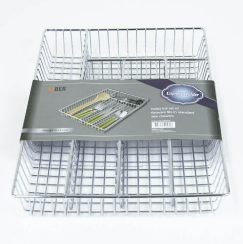 New Large Dish Rack Chrome Utensils Holder Side Drainer Drying Tray Rack