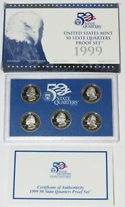 1999 U.S w// State Quarters  box and COA Mint clad proof coin set