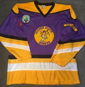 separation shoes 0961f 830ff Details about Rare Vintage Alcorn State Braves ASU Jersey Size XL Polyester  Mesh