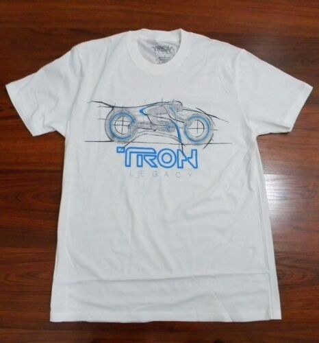 Tron Evolution Bike Rider Legacy GLOW IN THE DARK Men/'s Licensed T-Shirt