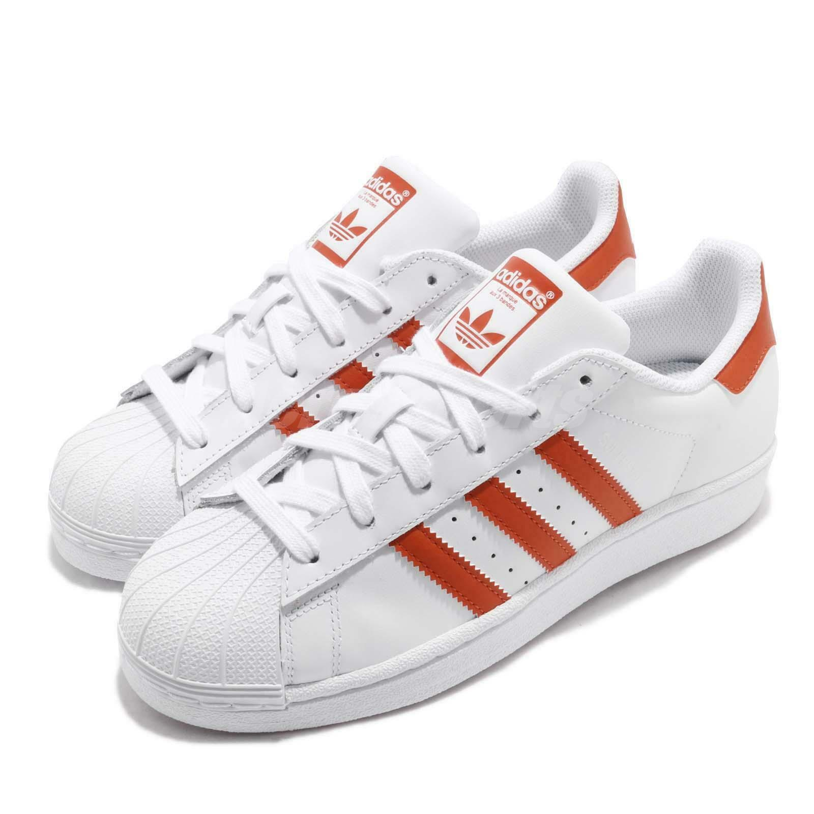 Adidas Originals Superstar White orange Men Classic Casual shoes Sneakers G27807