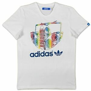 ADIDAS-ORIGINALS-BOOM-TREFOIL-PARTY-T-SHIRT-HERREN-WEISS-BUNT-RADIO-REGENBOGEN-S