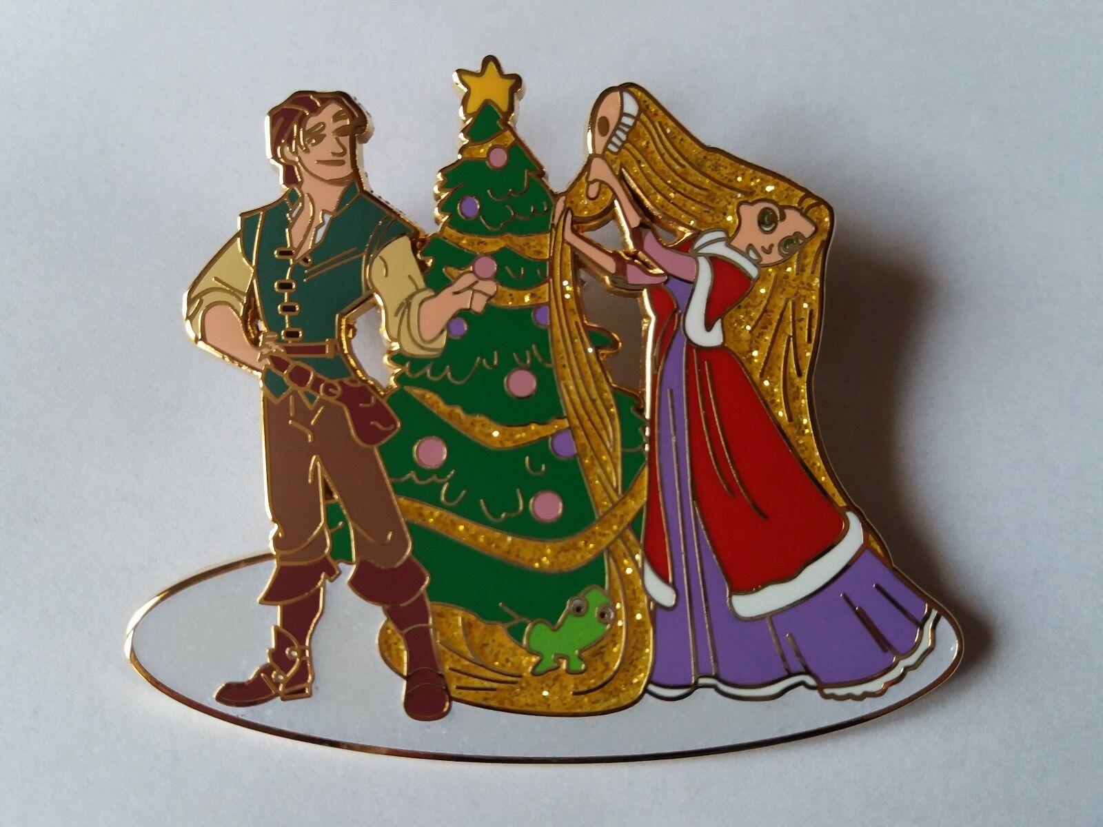 PINS DISNEY FANTASY PIN RAPUNZEL BRUSH FLYNN PASCAL CHRISTMAS TREE XMAS TANGLED