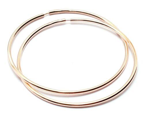 RUSSIAN 14k GOLD FILLED GYPSY STYLE 925 SILVER HOOP EARRINGS RINGS 60mm diam