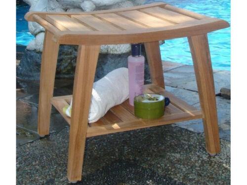 20 A Grade Teak Wood Bathroom Shower Spa Stool Bench Shelf Garden Patio Outdoor Patio Chairs Swings Benches