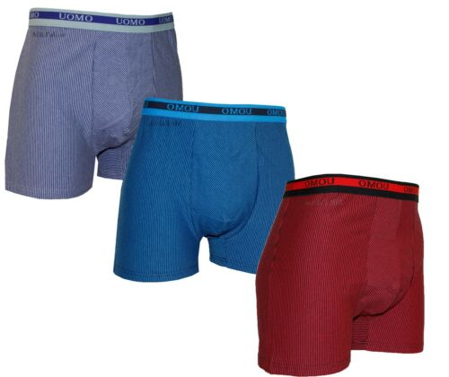 3 Pack Mens Boxers Shorts Uomo size XL 4XL  Adults Underwear Striped Pattern