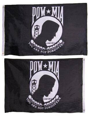 schwarz USA Pow Mia rot Stockflagge Flaggen Fahnen Stockfahne 30x45cm