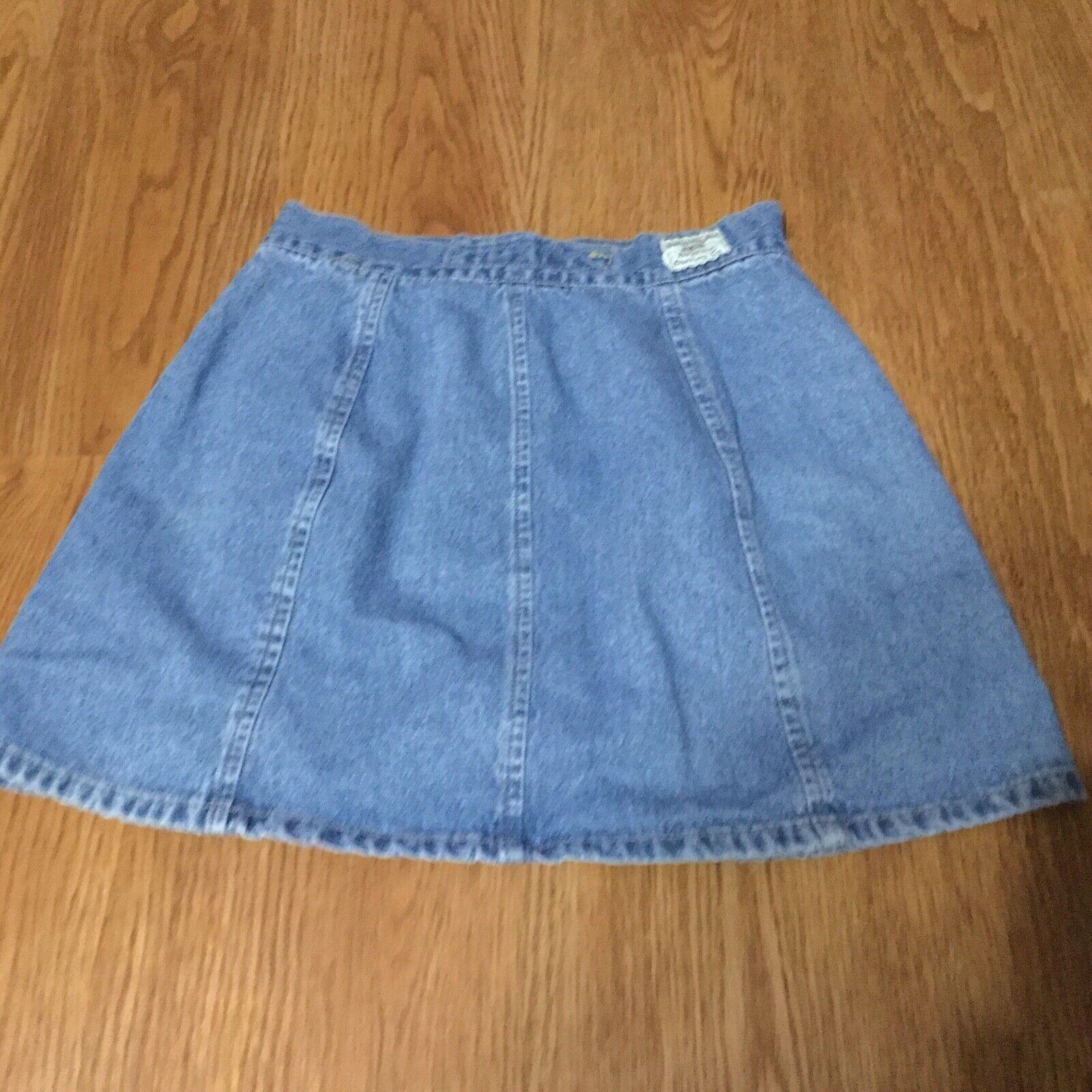 Vintage Unionbay Denim Mini Skirt Juniors Size 3 … - image 2