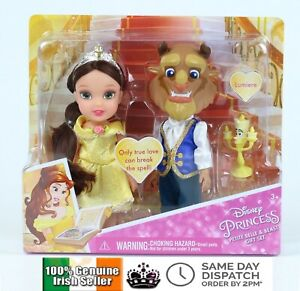 Disney-Princess-Petite-Belle-and-Beast-Gift-Set-with-Lumiere-6-034-Figures-Beauty