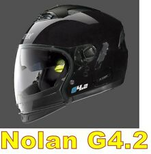 """CASCO NOLAN GREX G4.2 N-COM  EX N43E AIR NERO LUCIDO COL.1 Tg. """"XXL"""" BLACK"""