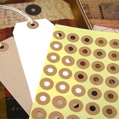 140pcs Kraft Ring Stickers Hole Paper Sticker  Paper Label Gift Seal Sticker CA