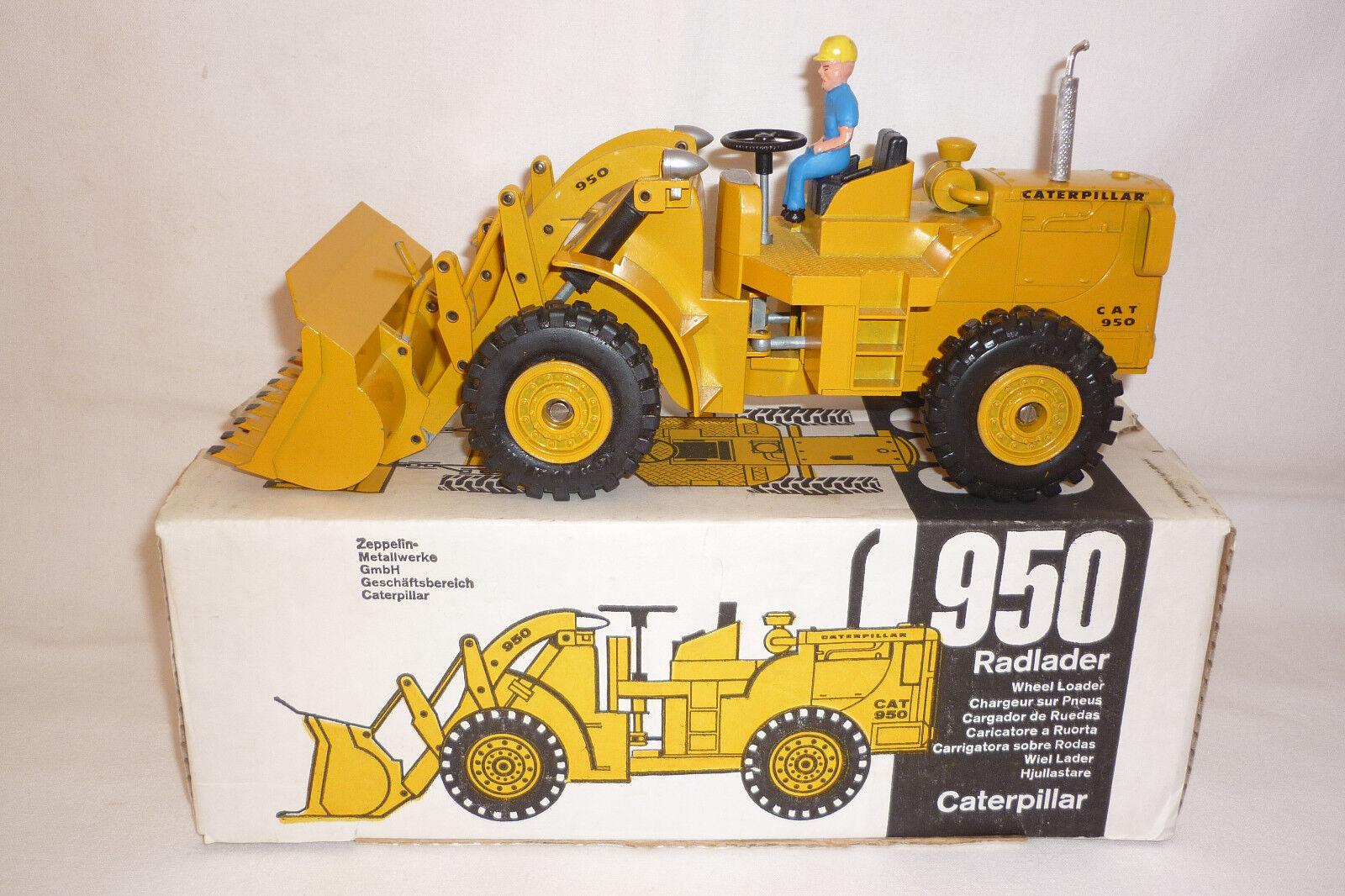 Strenco - Metal Model - Caterpillar 950 - Radlader - Ovp - 1 25 - (7.bm-169)