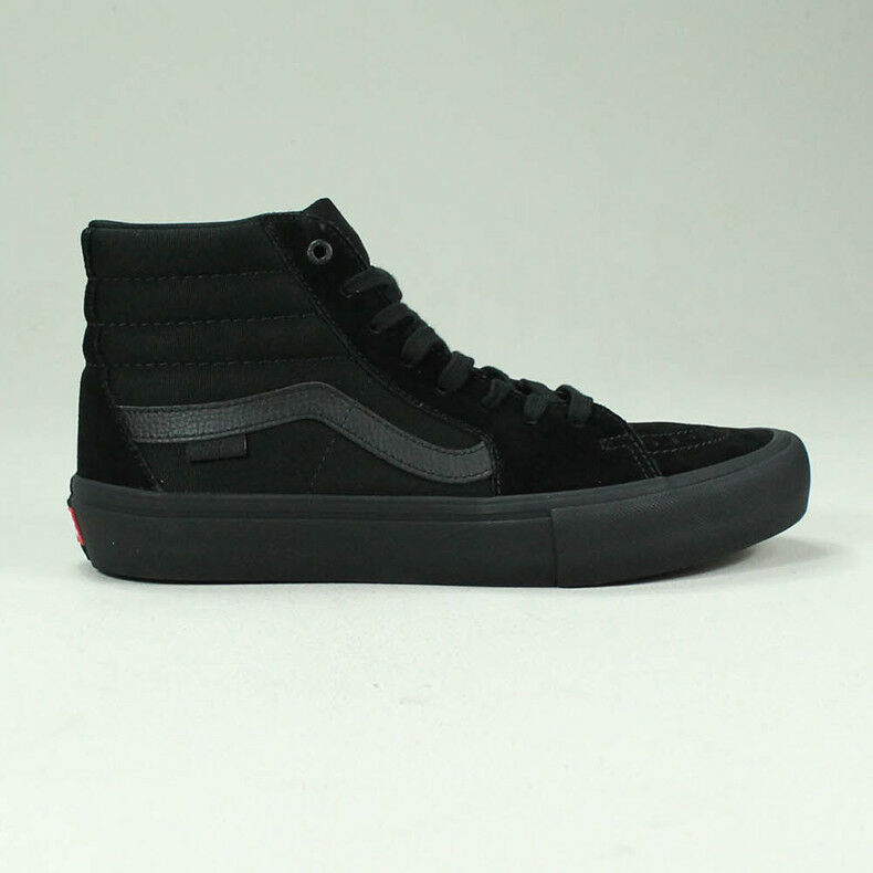 Vans Sk8 Hi Pro Trainers Shoes in Blackout in UK Size 4,6,7,8,9,10,11