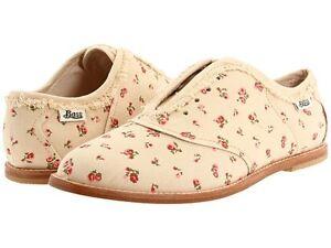 Bass-Loves-Rachel-Antonoff-ZOE-Tan-Floral-Oxford-Shoe-Women-6M-canvas-New-93