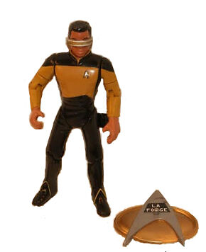The Next Generation Playmates 6015 1992 Series 1 Star Trek 4/½ Lieutenant Commander Geordi La Forge Action Figure