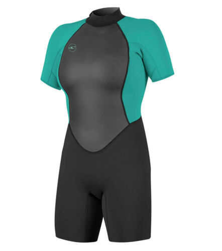 O'Neill Reactor 2 2mm Womens Shorty Wetsuit 2018 Black Aqua