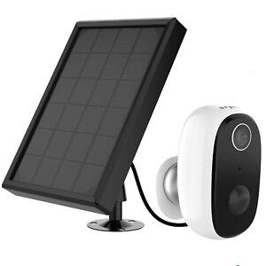 SANNCE 1080P Kabellos Überwachungskamera Wiederaufladbar Akku Kamera Solarpanel