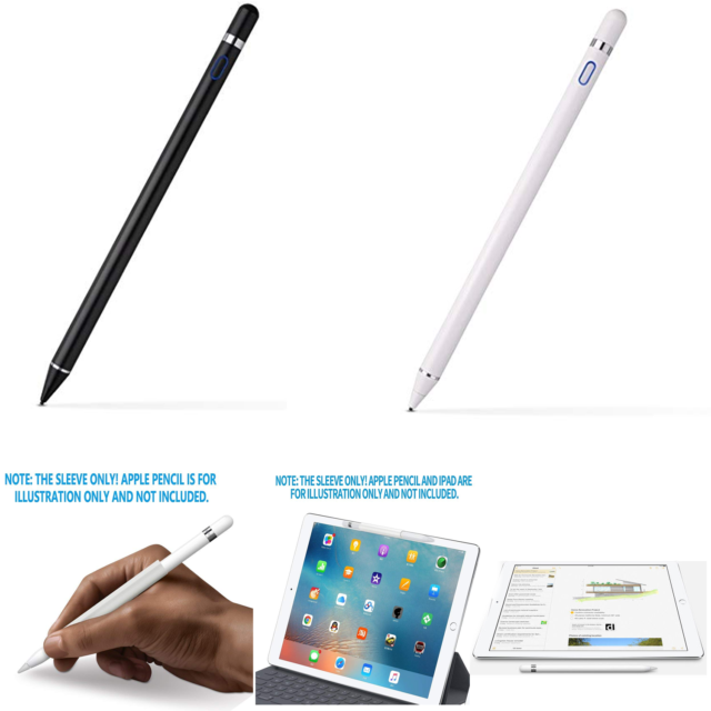 Black/White Generic Pencil Stylus For Apple iPAD Pro 9.7/10.5/12.9 1st/2nd/6th