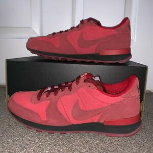 wholesale dealer 0aa3c d47e7 Image is loading NIKE-INTERNATIONALIST-iD-RED-BLACK-GOLD-UK-6