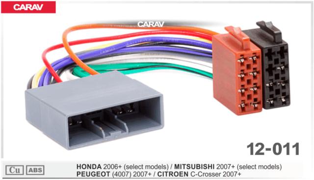 Iso Din Cable Adaptador de Enchufe Autorradio Apto para Mitsubishi Lancer Desde