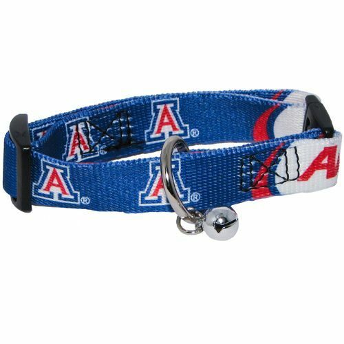 NEW ARIZONA WILDCATS ADJUSTABLE SAFETY CAT COLLAR w// BELL LICENSED