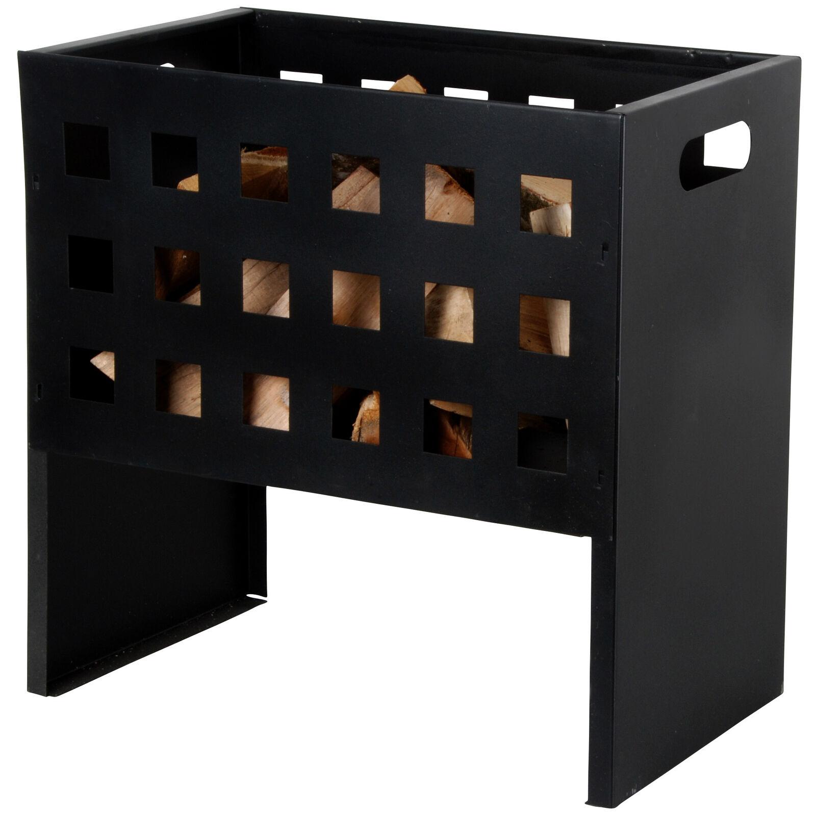 Esschert Brasero Receptáculo de Fuego Rectangular Negro Hierro 30x50x50cm