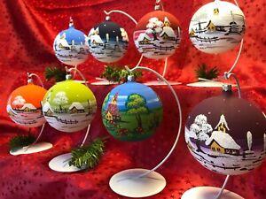 """Christbaumkugel """"Medium"""" Glaskugel Weihnachtskugel Baumbehang Handarbeit Lauscha"""