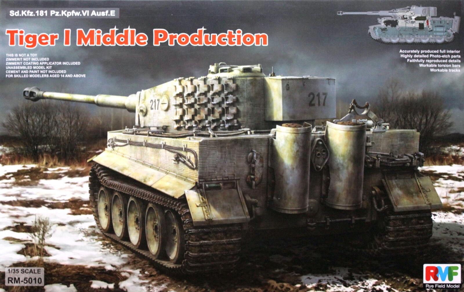 RMF 1  35 RM -5010 WWWII Tyska Tiger I Pz.Kpfw.VI AuSF.E Mid Prod. w  Full interiör