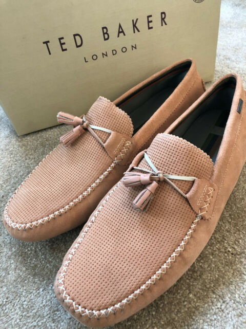3e2aa380b21e Ted Baker Erbonn Mens Light Pink Suede Loafers - 8 UK for sale ...