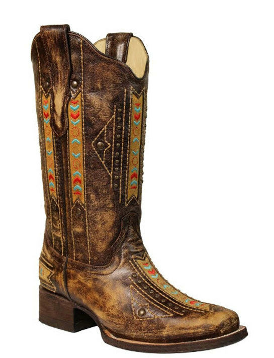Womens Corral Boots Embroidered Inlay Boot Style E1185 FREE SHIP