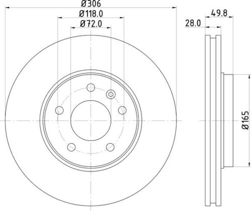 NEW MINTEX FRONT BRAKE DISCS SET MDC1608 FREE NEXT DAY DELIVERY