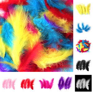 10 COLOURS ARTS /& CRAFTS 100 MARABOU FEATHERS 10cm to 15cm CARD MAKING