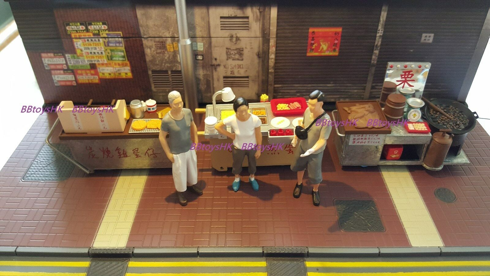 Toyeast Tiny Miniature 1 35 Hong Kong rue +  Food voitureful Diorama Full Set  authentique