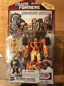 Hasbro 2014 Transformers Lot Autobot Scoop Starscream Mini-con Assult W/ Comics
