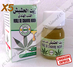 X5-Huile-de-Chanvre-Indien-BIO-100-Pur-30ml-Indian-Hemp-Oil-Aceite-Canamo-Indio