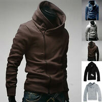 Fashion Men's Slim Fit Hoodies Jackets Casual Coats Tops Side Zip 5Color S-XL PJ
