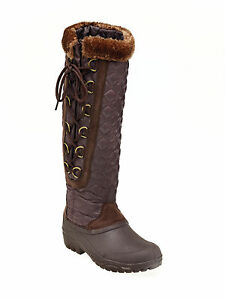 harry polar winter lined snowboots brown or