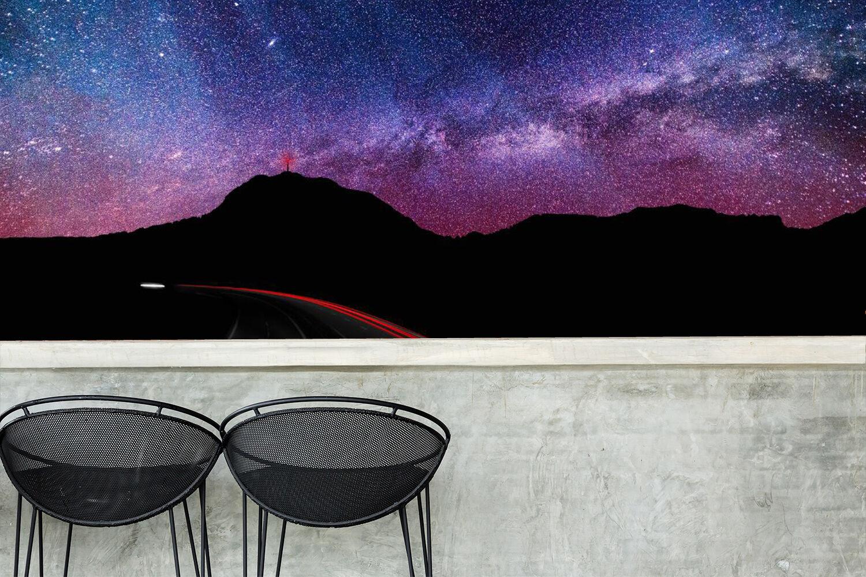 3D Cielo lila Parete Murale Foto Carta da parati immagine sfondo muro stampa